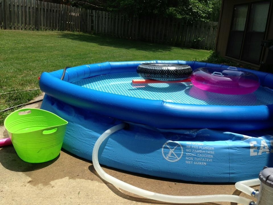 My outdoor space decor pool area life of a mompreneur - Pools in small spaces set ...